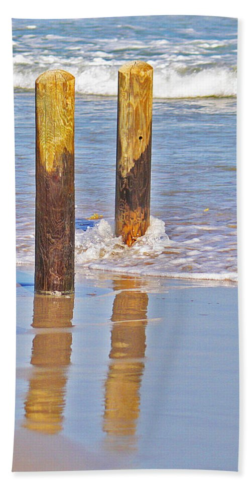Roena King Bath Sheet featuring the photograph When The Tide Comes In by Roena King