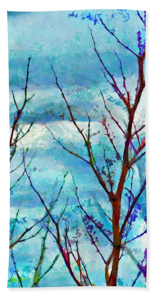 Blossom Hand Towel featuring the digital art When The Wind Blows by Steve Taylor