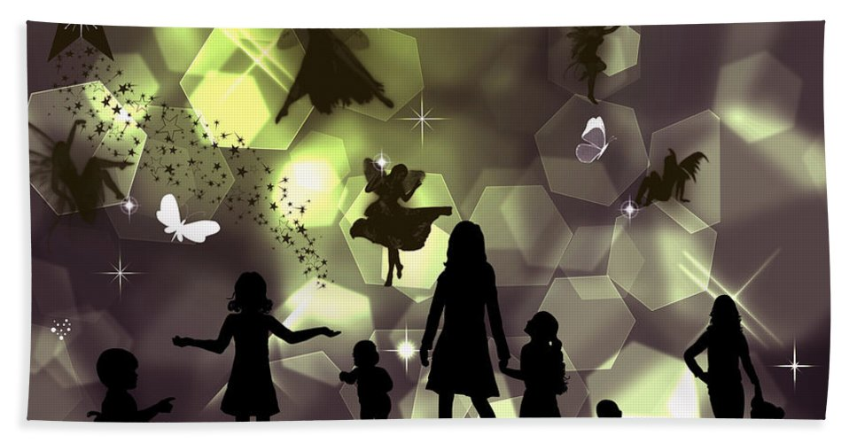 Wish Hand Towel featuring the digital art When You Wish Upon A Star by Ericamaxine Price