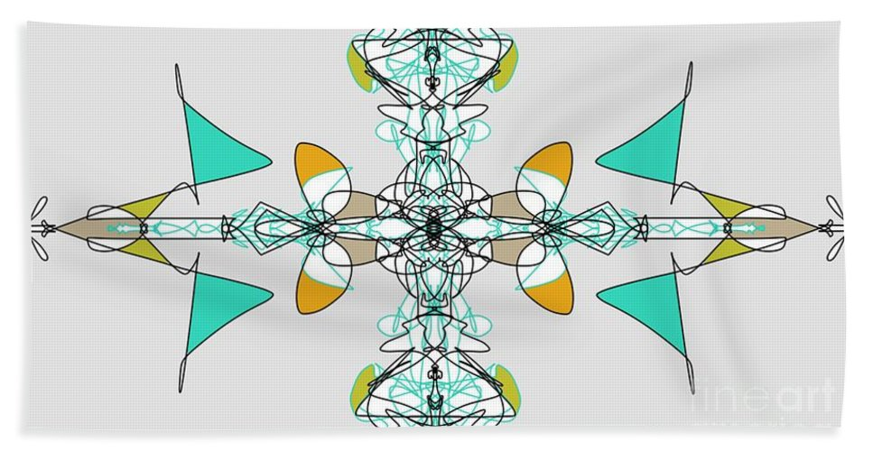 Fractal Bath Sheet featuring the digital art Whirly Birds by George Pedro