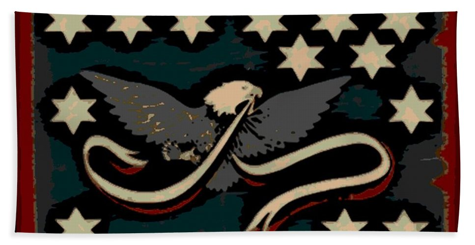 Whiskey Bath Sheet featuring the photograph Whiskey Rebellion Flag by George Pedro