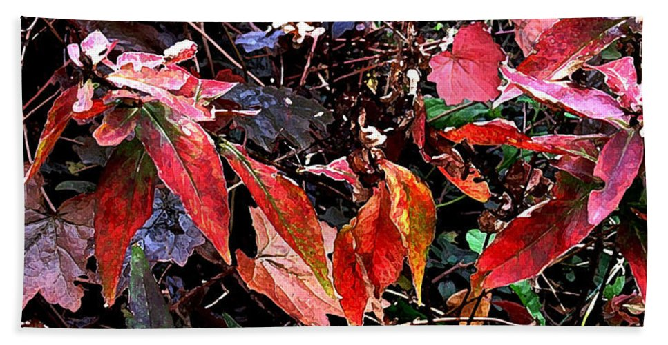 Autumn Bath Sheet featuring the photograph Whispers Of Winter by Ian MacDonald