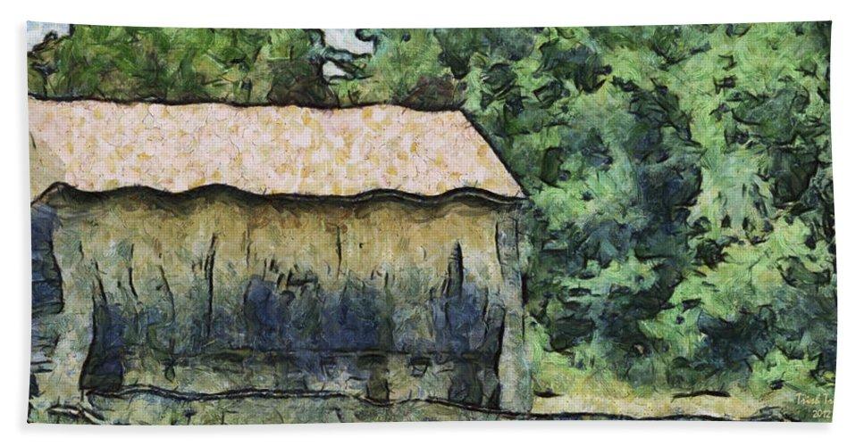 Farm Hand Towel featuring the photograph White Bear Farm by Trish Tritz