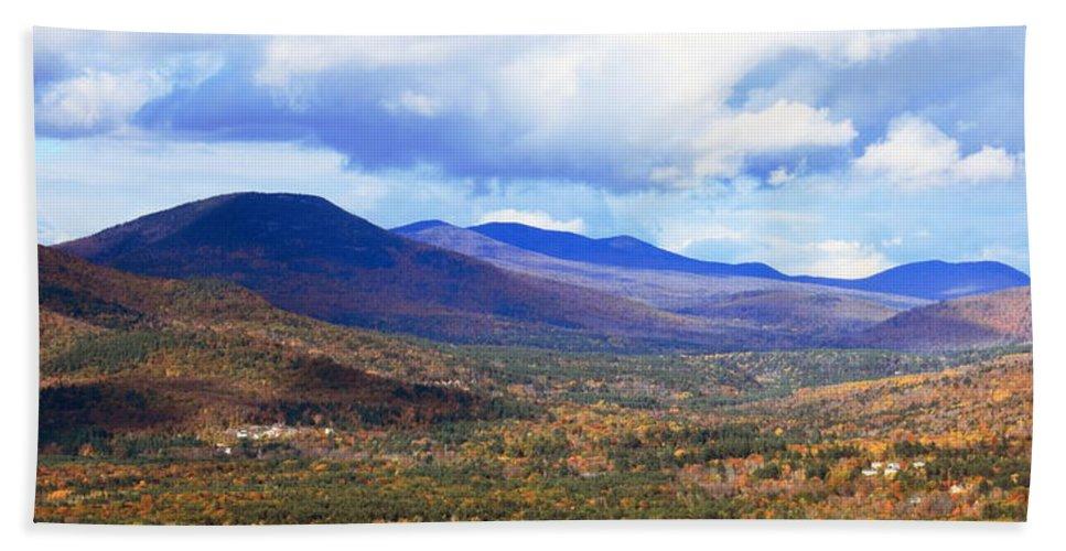 White Mountains Bath Sheet featuring the photograph White Mountains Vista by Roupen Baker