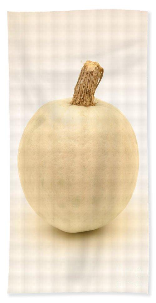 Pumpkins Hand Towel featuring the photograph White Pumpkin by Ted Kinsman