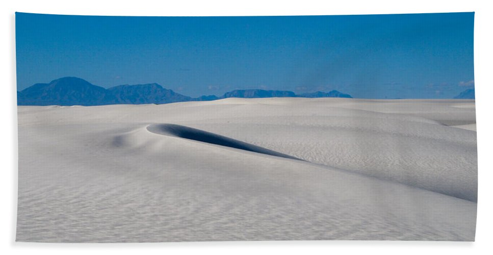 New Mexico Bath Sheet featuring the photograph White Sands 1 by Sean Wray