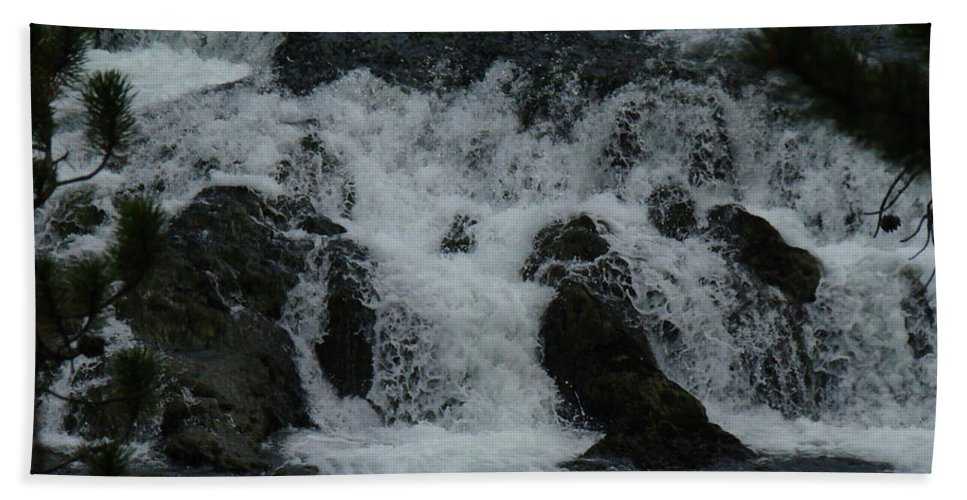 Water Bath Sheet featuring the photograph White Water by Michael MacGregor