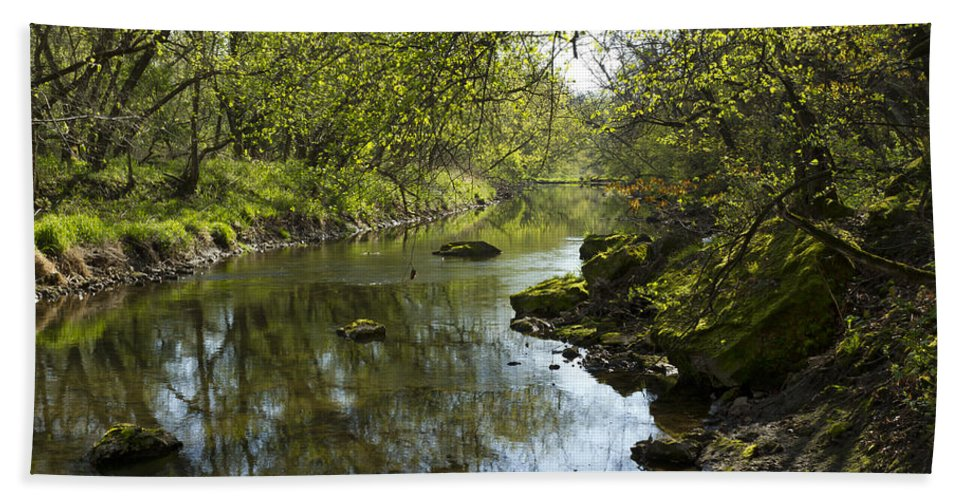 Whitewater Bath Sheet featuring the photograph Whitewater River Spring 10 by John Brueske