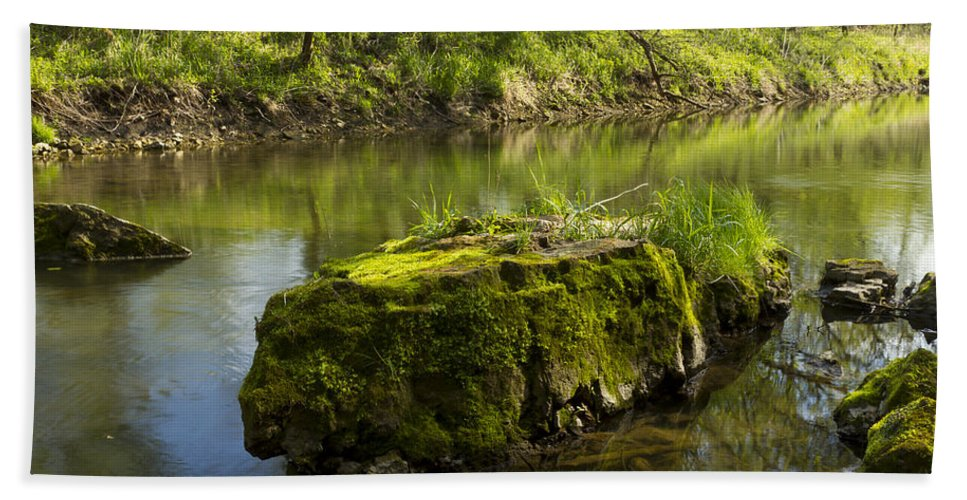 Whitewater Bath Sheet featuring the photograph Whitewater River Spring 12 by John Brueske