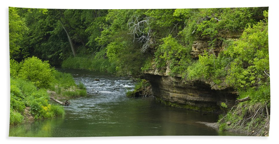 Whitewater Bath Sheet featuring the photograph Whitewater River Spring 5 B by John Brueske