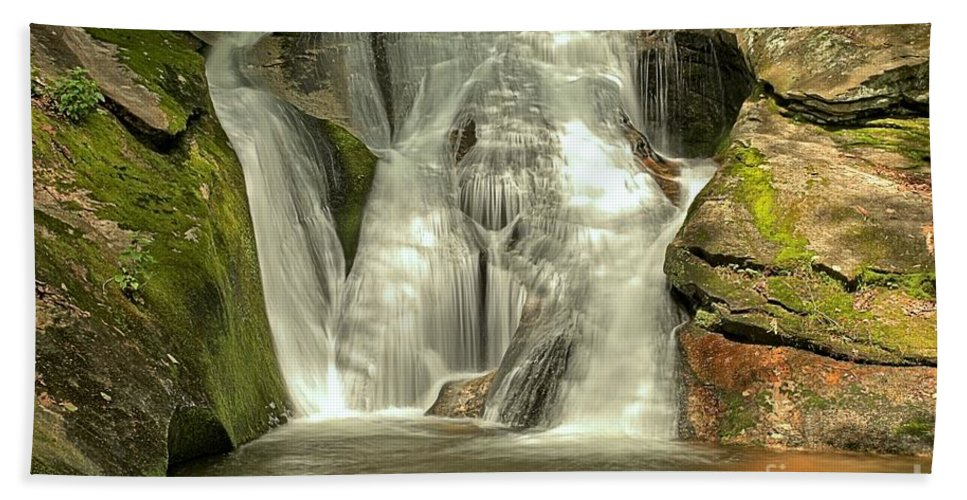 Stone Mountain State Park Hand Towel featuring the photograph Widows Creek Falls by Adam Jewell