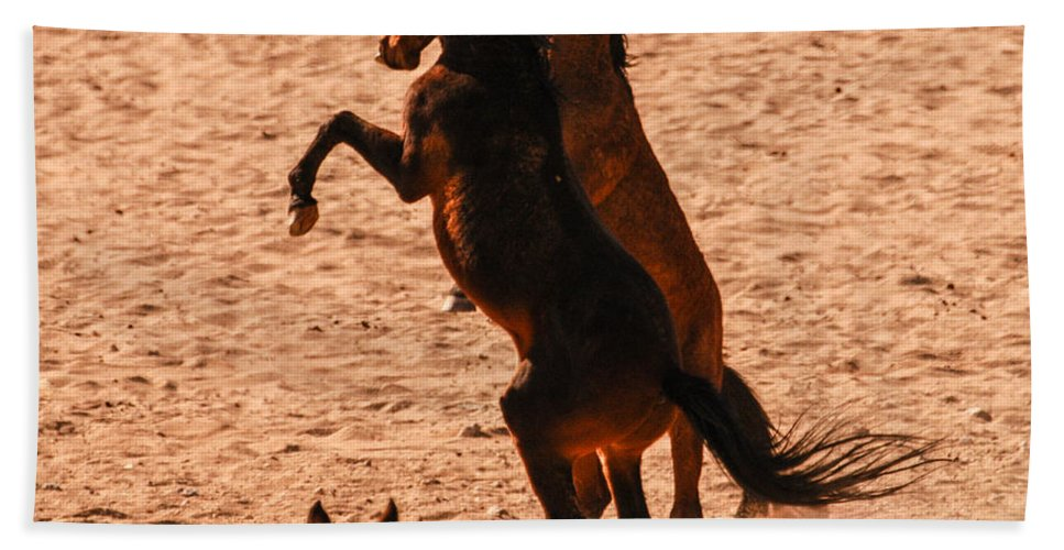 Action Hand Towel featuring the photograph Wild Hooves by Alistair Lyne