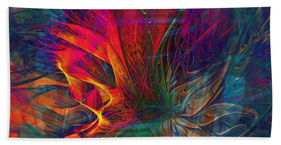 Digital Art Hand Towel featuring the digital art Wildfire by Amanda Moore