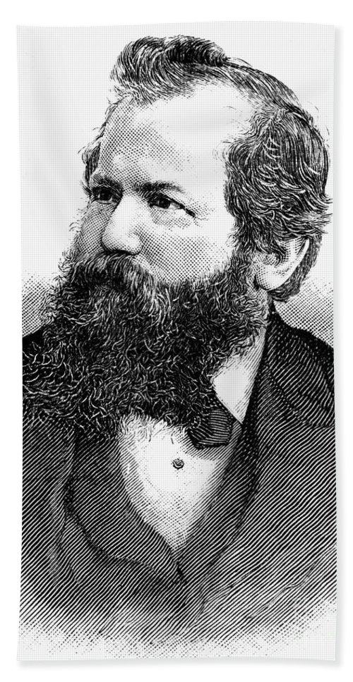 1886 Bath Sheet featuring the photograph Wilhelm Steinitz (1836-1900) by Granger