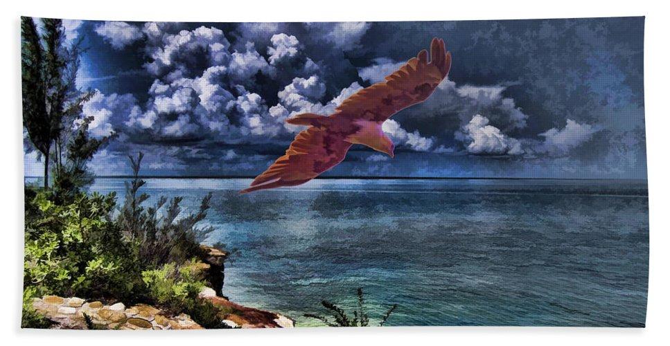 Brahminy Kite Bath Sheet featuring the photograph Wind Beneath My Wings by Douglas Barnard