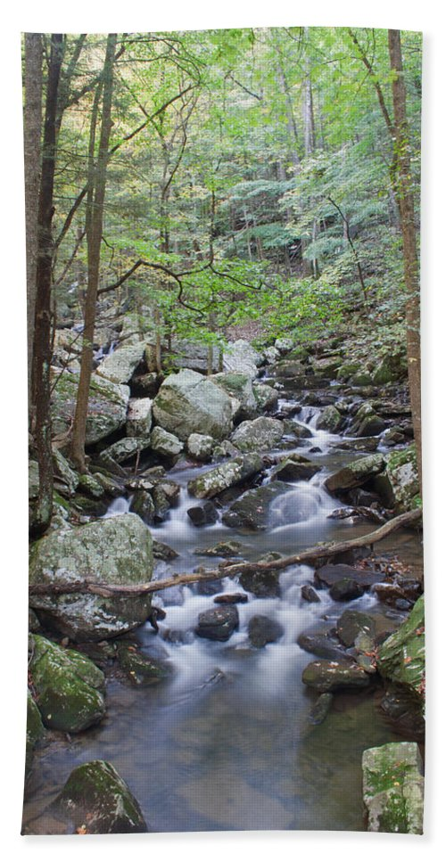Stream Hand Towel featuring the photograph Winding Stream by David Troxel