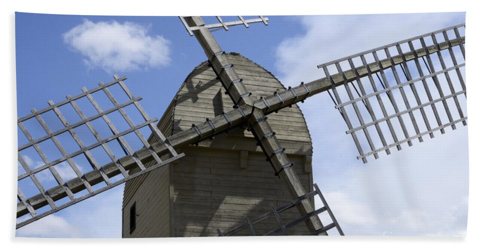 Windmill Hand Towel featuring the photograph Windmill 10 by Bob Christopher