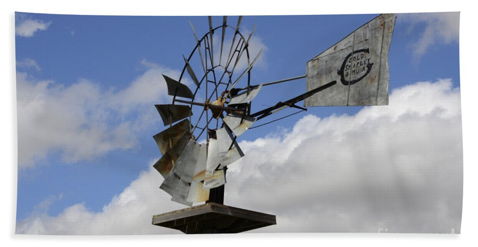 Windmill Hand Towel featuring the photograph Windmill 2 by Bob Christopher