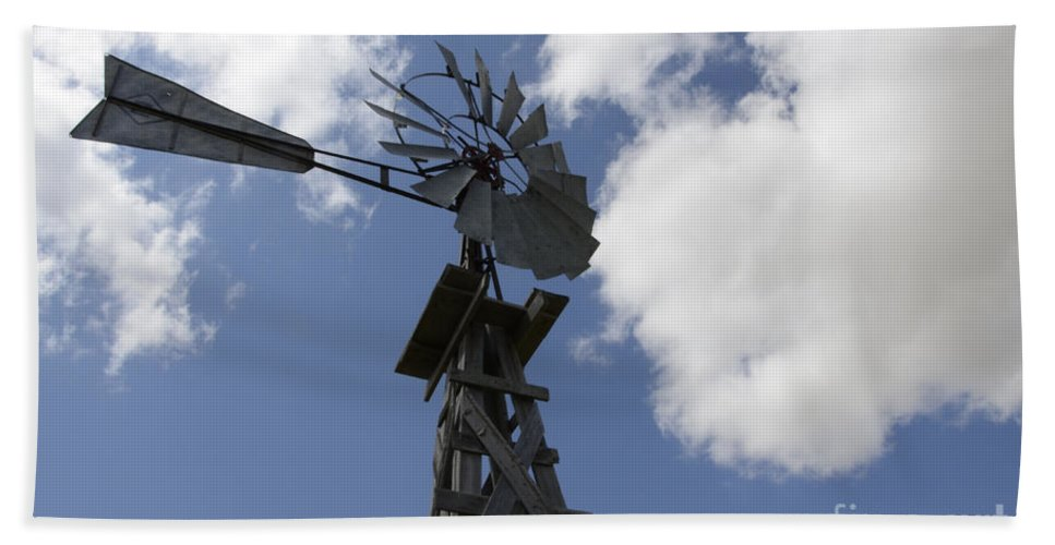 Windmill Hand Towel featuring the photograph Windmill 4 by Bob Christopher