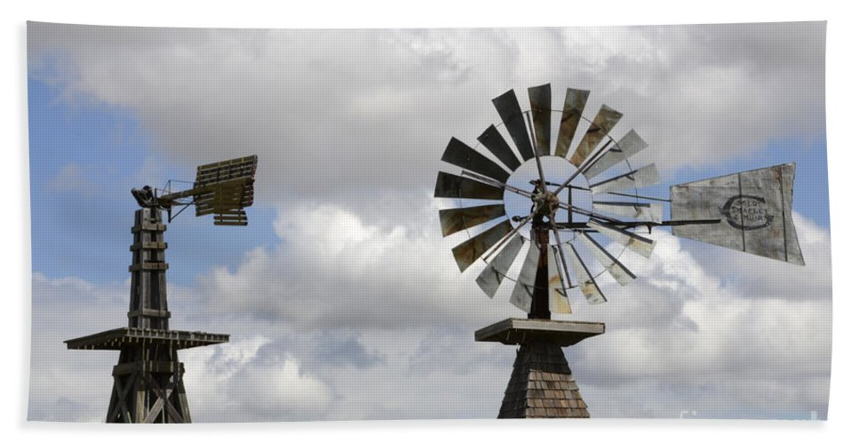 Windmill Hand Towel featuring the photograph Windmills 5 by Bob Christopher