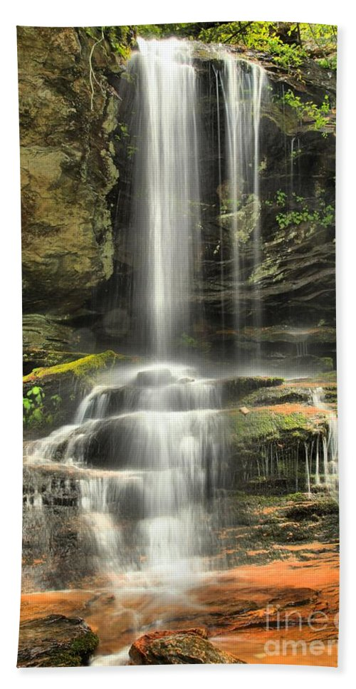 Hanging Rock State Park Hand Towel featuring the photograph Window Falls Cascade by Adam Jewell