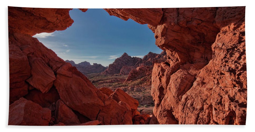 Nevada Hand Towel featuring the photograph Window On The Valley Of Fire by Rick Berk