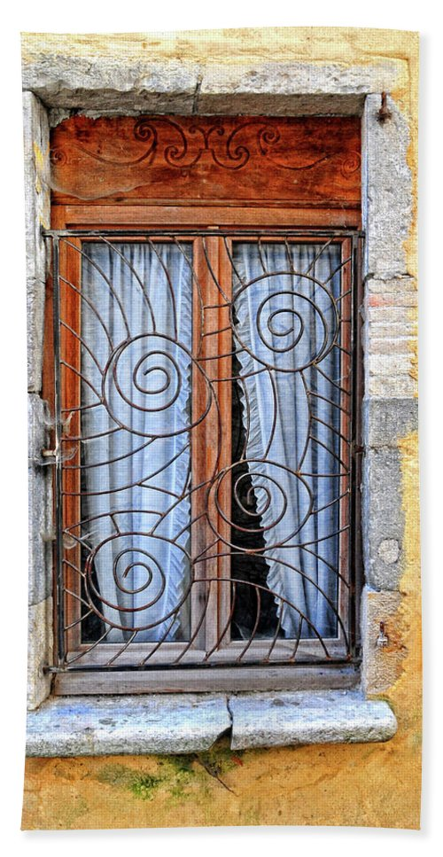 Window Bath Sheet featuring the photograph Window Provence France by Dave Mills