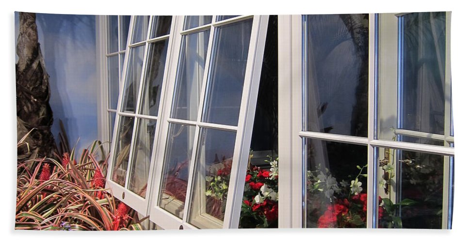 Windows Bath Sheet featuring the photograph Windows by Stefa Charczenko