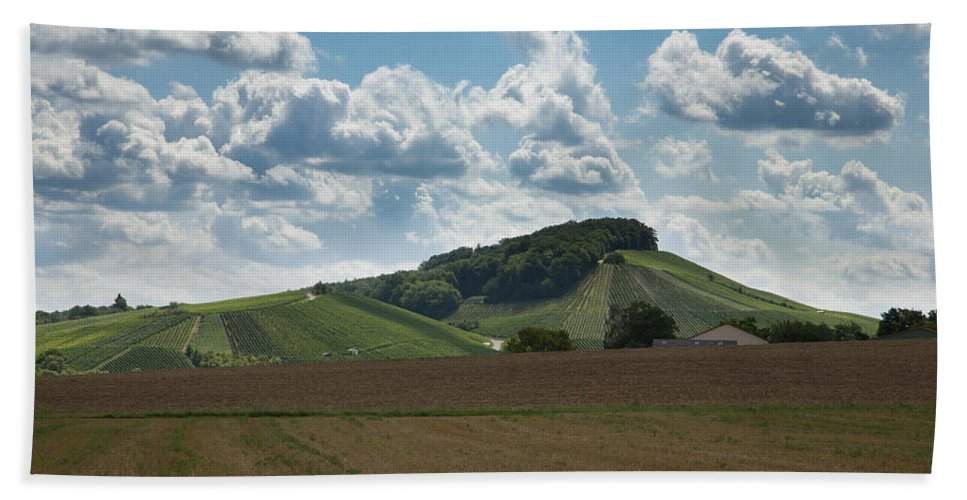 Wine Hand Towel featuring the photograph Wine Hills Of Germany by Ian Middleton