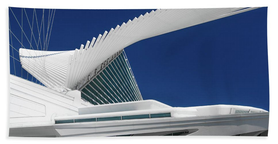 Briese Soleil Calatrava Santiago Bath Sheet featuring the photograph Wings Wide Open by Jonah Anderson