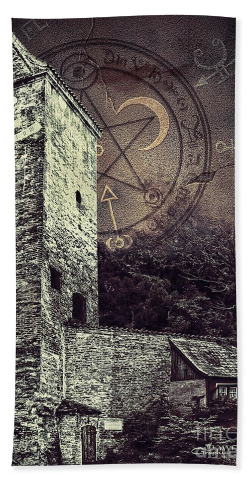 Photo Bath Sheet featuring the photograph Witch Tower by Jutta Maria Pusl