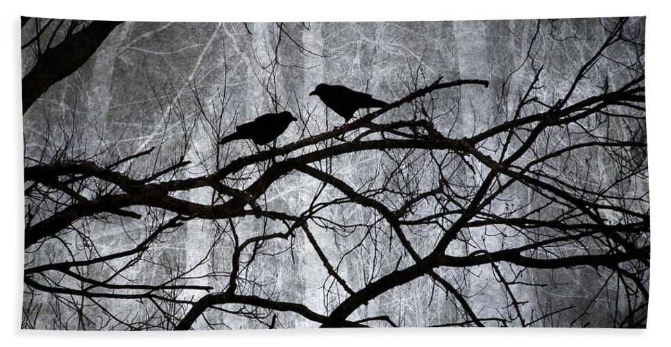 Crows Bath Sheet featuring the photograph Witnesses by Angie Rea