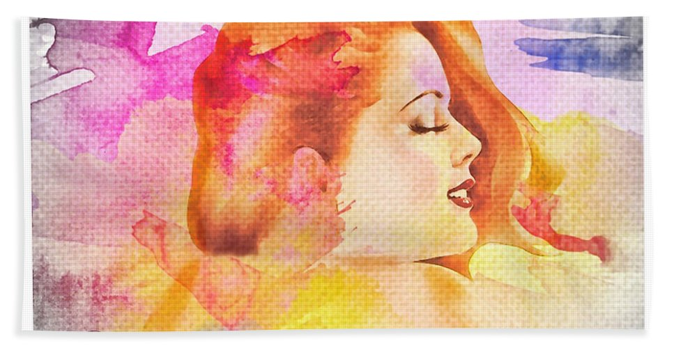 Woman's Soul Part 4 Hand Towel featuring the photograph Woman's Soul Part 4 by Mo T