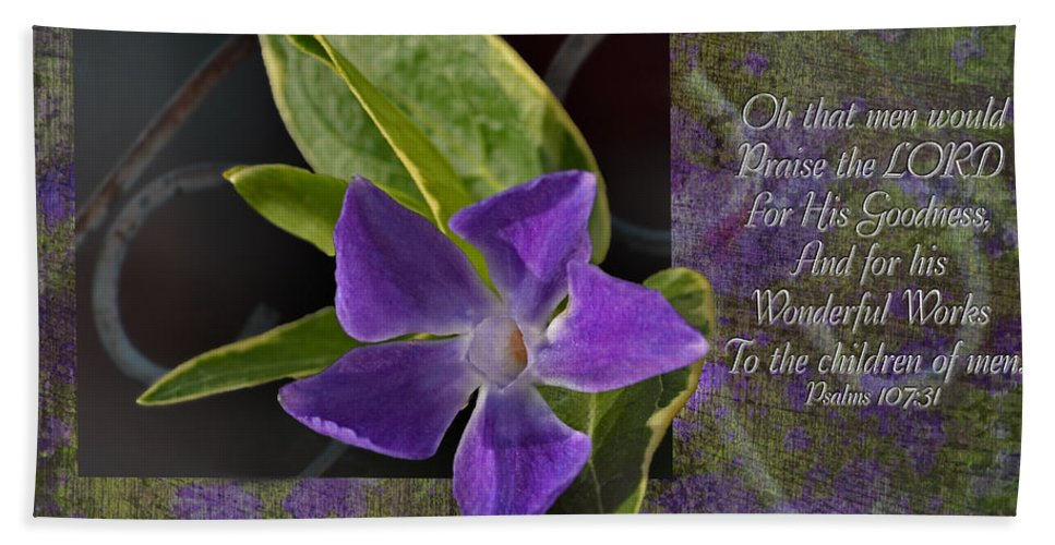 Botanical Hand Towel featuring the photograph Wonderful Works by Debbie Portwood