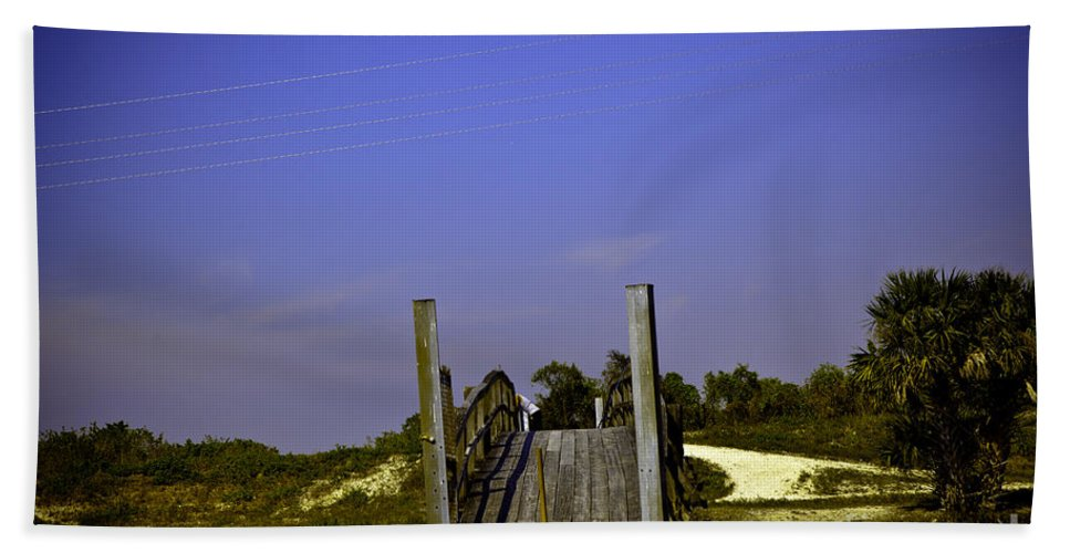 Bridge Bath Sheet featuring the photograph Wooden Bridge by Madeline Ellis