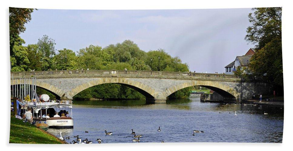 Britain Bath Sheet featuring the photograph Workman Bridge And The River Avon by Rod Johnson