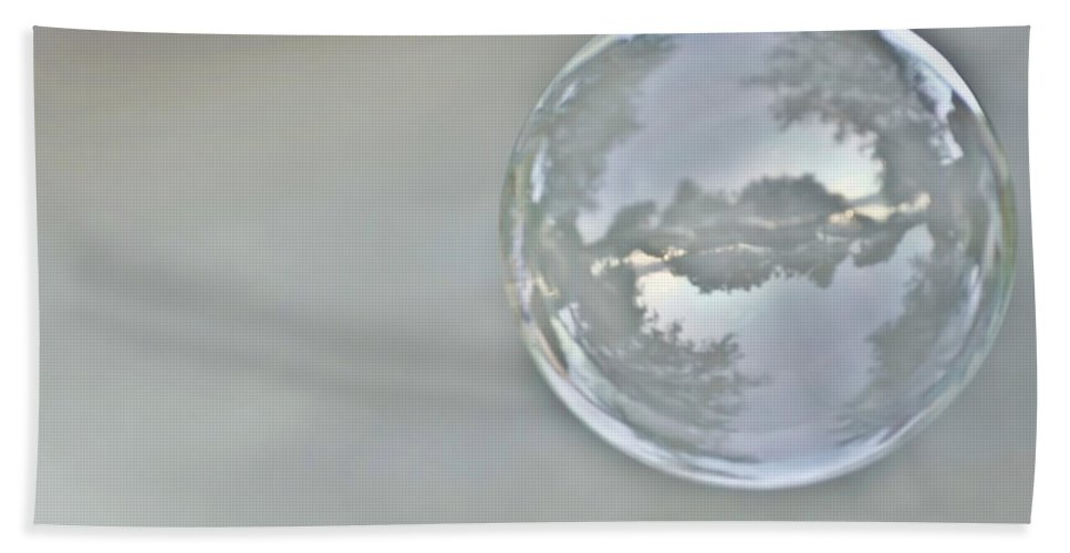 Bubble Bath Sheet featuring the photograph World In A Bubble by Heather Applegate