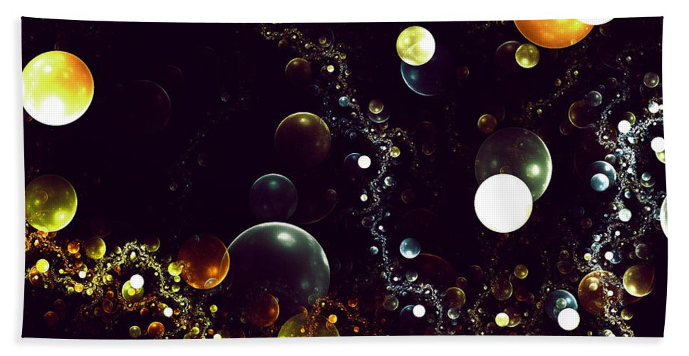 Fractal Bubble Bubbles Color Colorful World Space Fantasy Universe Digital Painting Expressionism Impressionism Abstract Bath Sheet featuring the digital art World Of Bubbles by Steve K