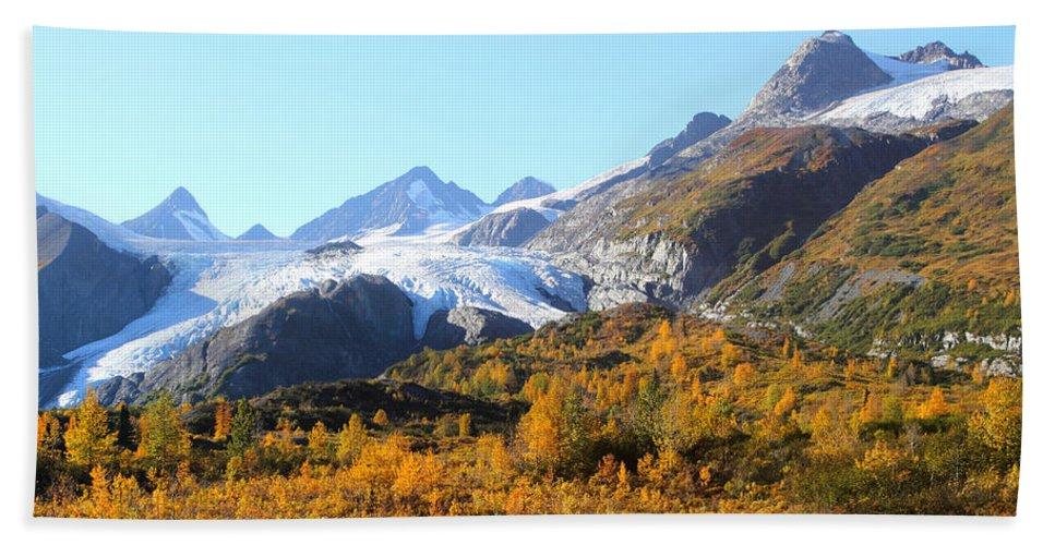 Doug Lloyd Hand Towel featuring the photograph Worthington Glacier by Doug Lloyd