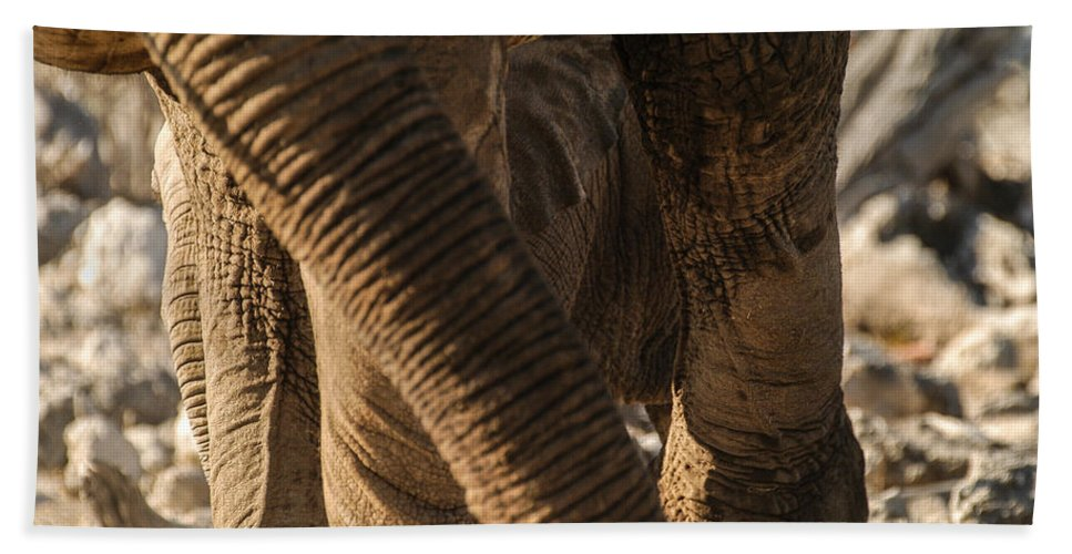 Action Hand Towel featuring the photograph Wrinkles by Alistair Lyne