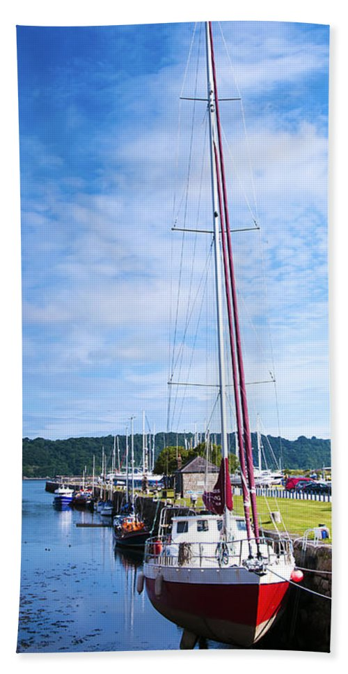 Yacht Hand Towel featuring the photograph Yacht by Svetlana Sewell