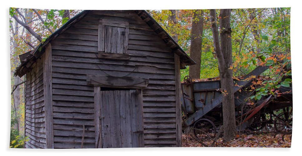 Old Hand Towel featuring the photograph Ye Olde Shed by Scott Hervieux