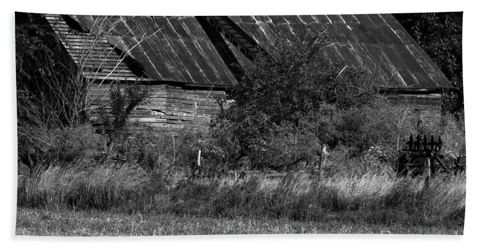 Abandoned Bath Sheet featuring the photograph Yesterday's Barn by Alan Look