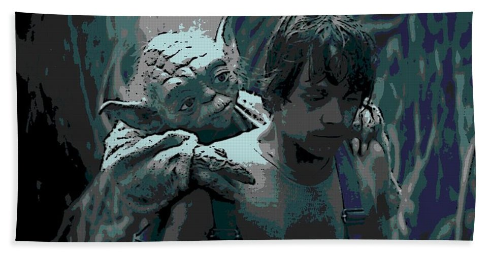 Yoda Bath Towel featuring the photograph Yoda Got Your Back by George Pedro