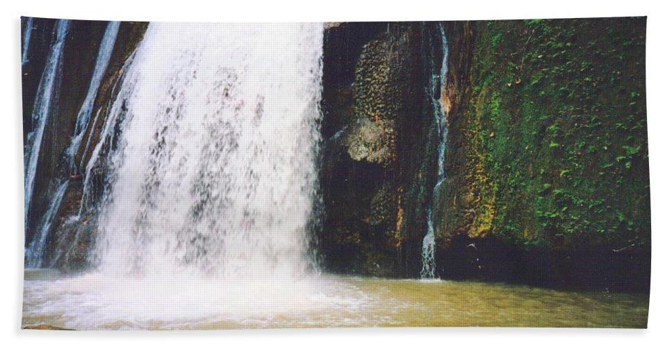 Jamaica Bath Towel featuring the photograph YS Falls5 Jamaica by Debbie Levene