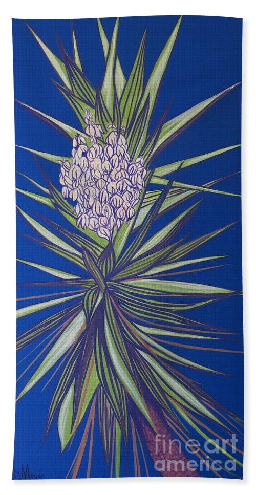 Aimee Mouw Bath Sheet featuring the painting Yucca by Aimee Mouw
