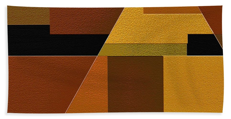 Abstract Art Bath Sheet featuring the painting Zeal by Ely Arsha
