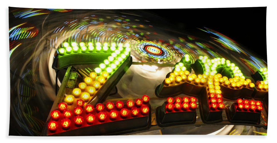 Fine Art Photography Bath Sheet featuring the photograph Zipper The Ride by David Lee Thompson