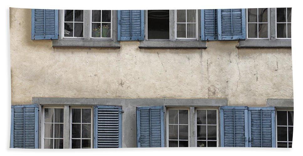 Zurich Hand Towel featuring the photograph Zurich Window Shutters by Lauri Novak