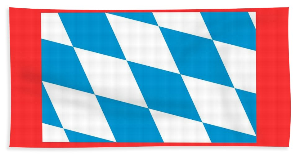 Banner Bath Sheet featuring the digital art Bavaria Flag by Frederick Holiday